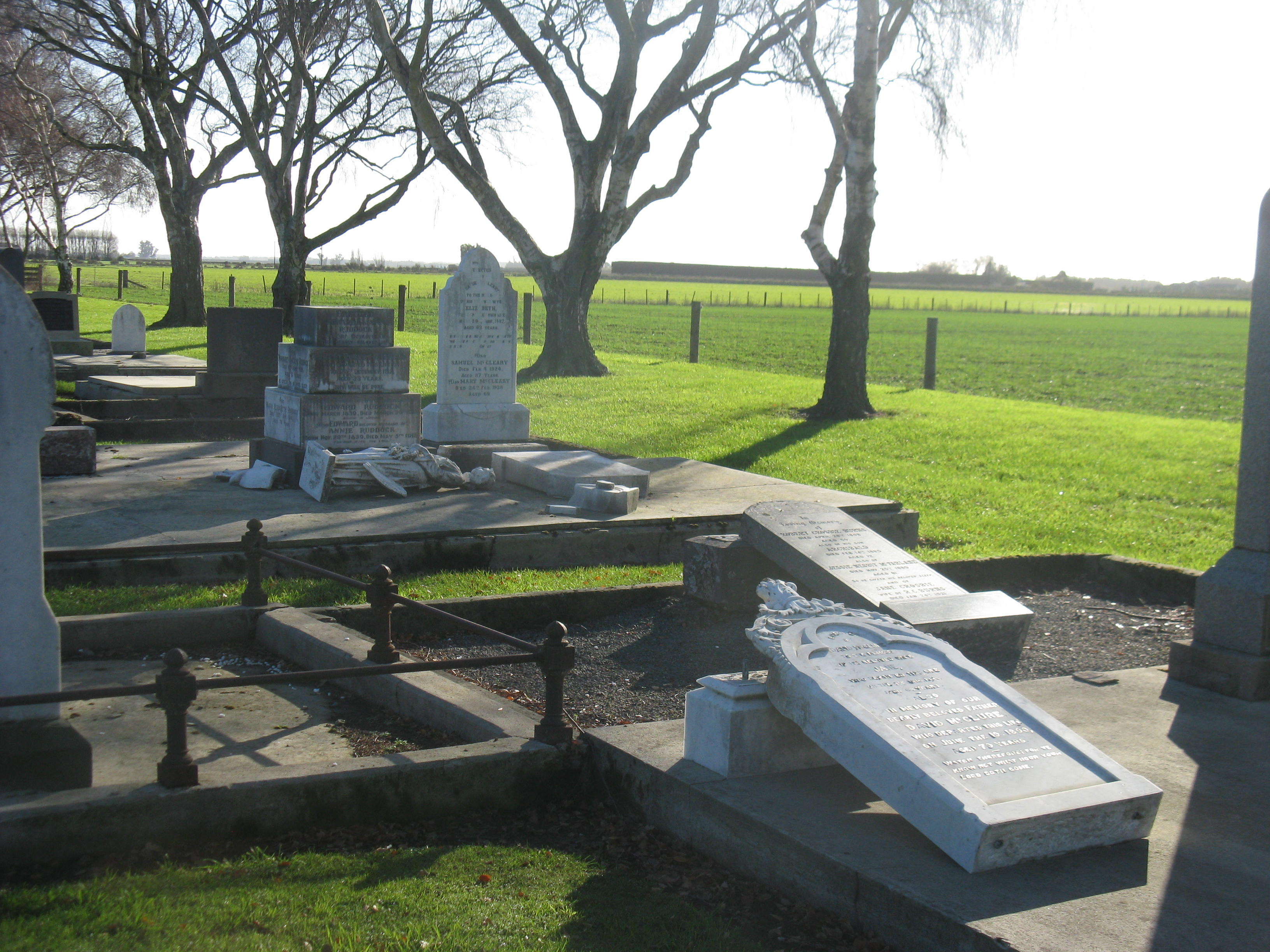 Stone Cemetery Columns : First look at damage in ellesmere public cemetery